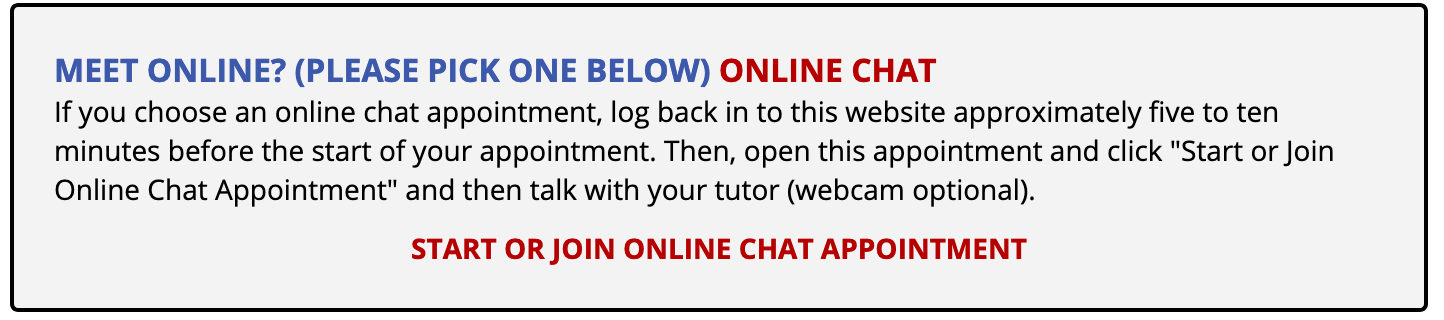 Joining online chat